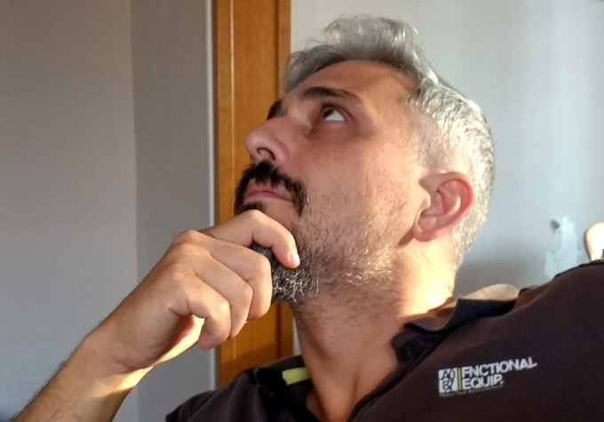 David thinking