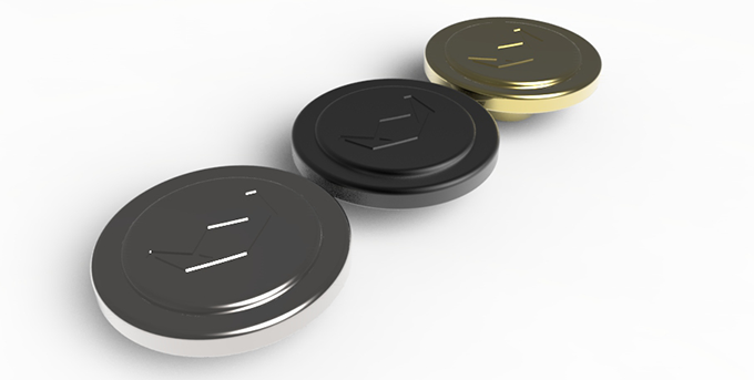 New Double Circle Buttons With Engravings