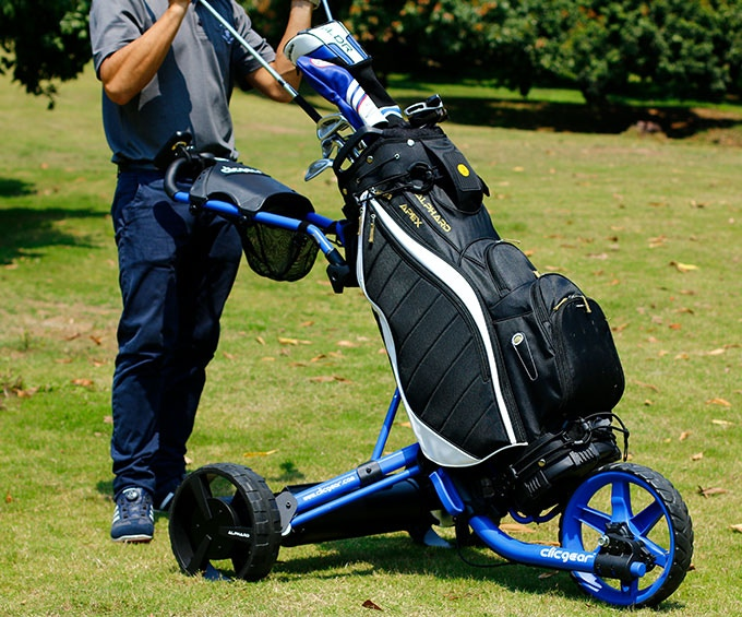 eWheels: Turn Any Pushcart to an Electric Remote Golf Caddie