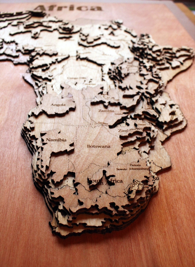 Meridian Maps 3d Topographical Wooden Maps By Arunprakash