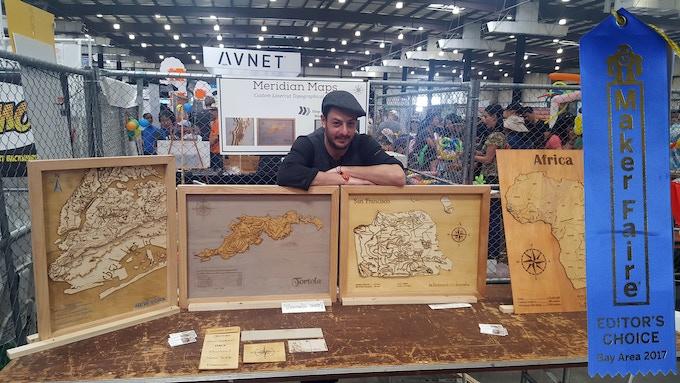 Bay Area Maker Faire 2017, happy to receive the Editor's Choice award