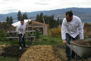The Start Fresh Project Founder, Michael Buffet working on the farm