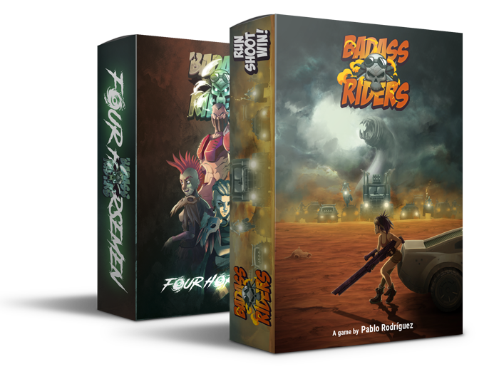 Badass Riders is a card game which recreates ruthless races in a devastated world where the only rule is that, there are no rules!
