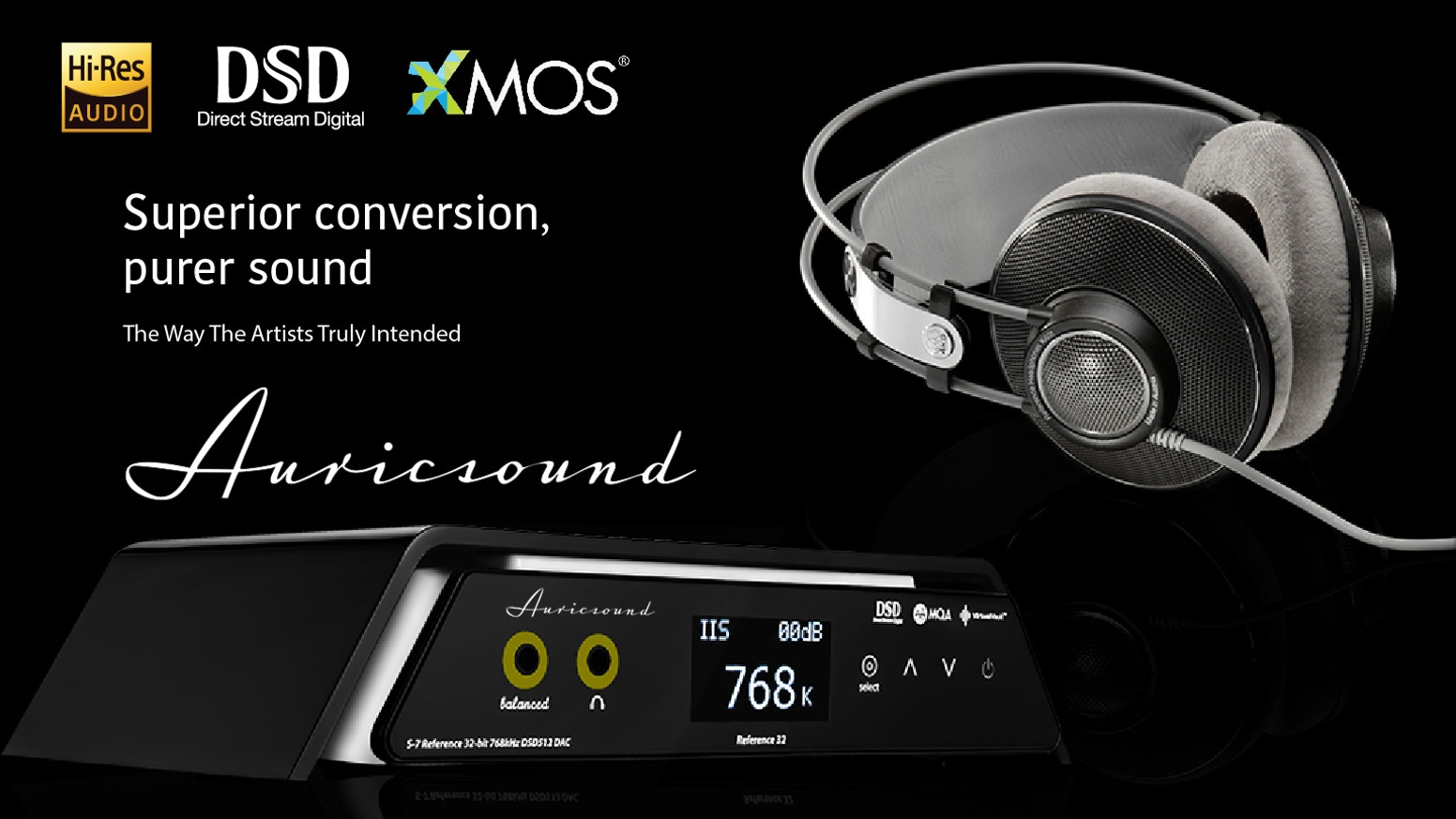 The AuricSound S7 is the world's smallest and lightest Ultra Hi-Res audio Twin DACs prepare to immersed in a world of vivid rich sound
