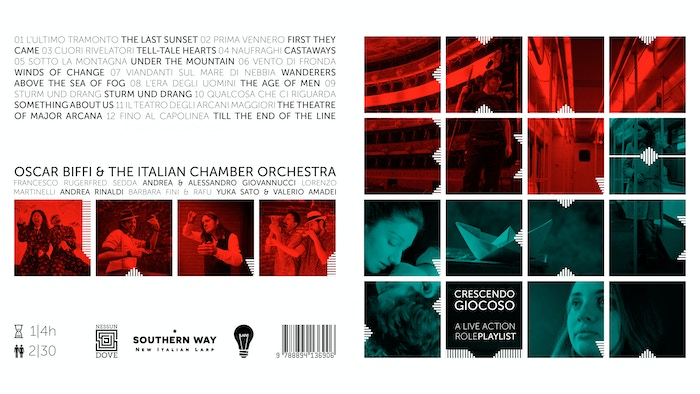 A live action role-playlist with twelve larp scenarios from Oscar Biffi & The Italian Chamber Orchestra.