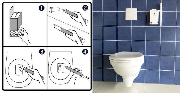 wc stick revolutionary hygiene for your bathroom by frank martin kurt kickstarter. Black Bedroom Furniture Sets. Home Design Ideas