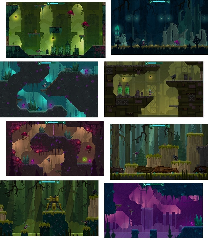 Various locations in the game.