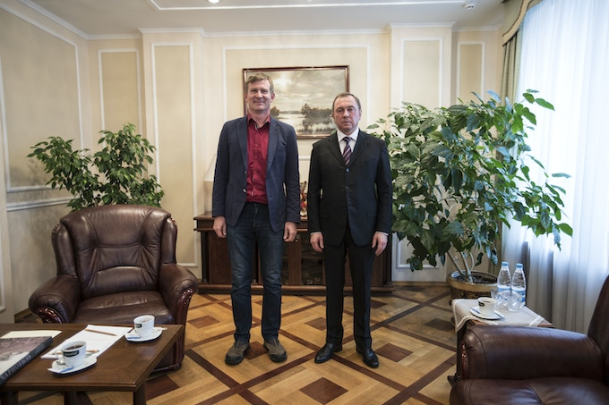 Meeting with the Minister for Foreign Affairs of Belarus, Vladimir Makei. Minsk, Belarus.