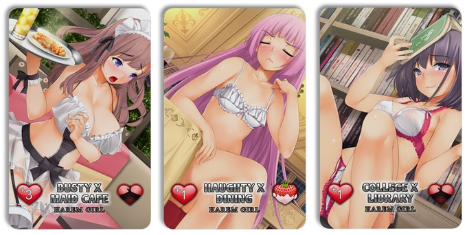 Examples of Harem Girl X-Rated Cards