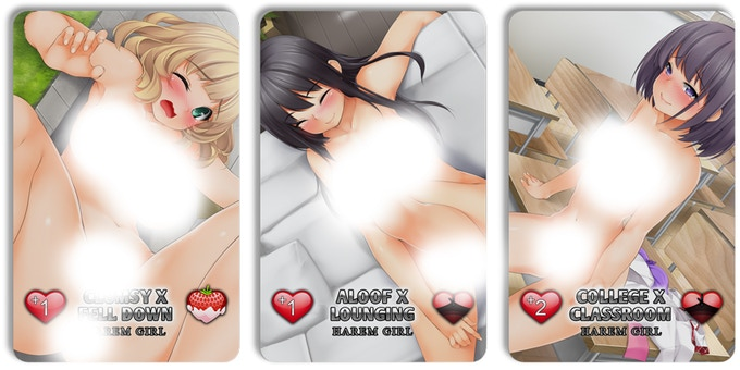 Examples of Explicit Harem Girl Cards (printed versions will be uncensored)