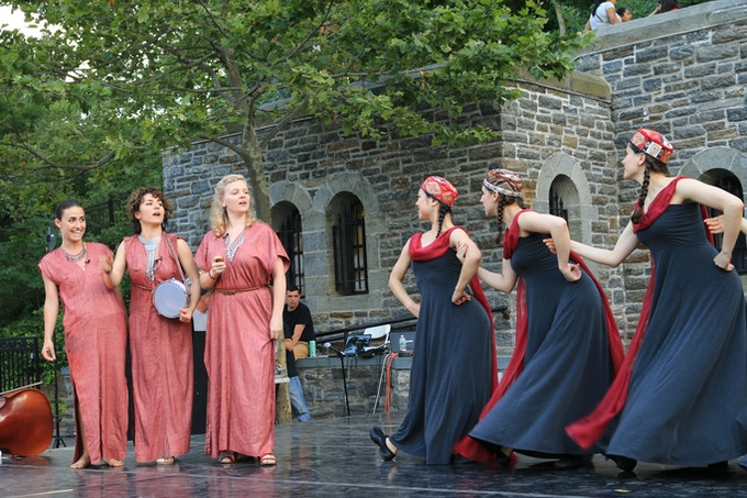 """""""An Eastern West"""" - choreographer Emily Vartanian, director of General Mischief Dance Theater, joined with Lucy Yeghiazaryan and the YY Sisters to celebrate their mutual Armenian heritage."""