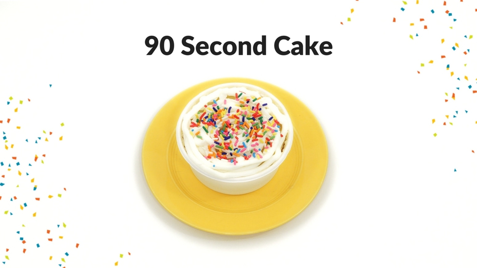 Enjoy the fun and magical experience of making a warm and delicious cake in only 90 seconds!