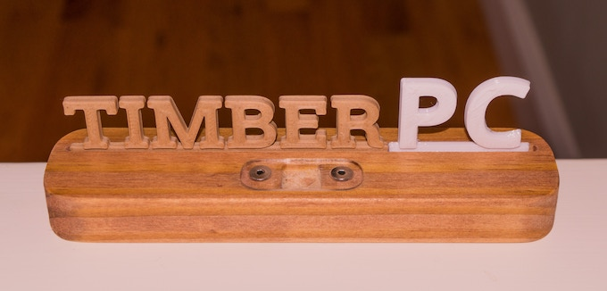 Cherry Stained Pine, 3D Printed Letters