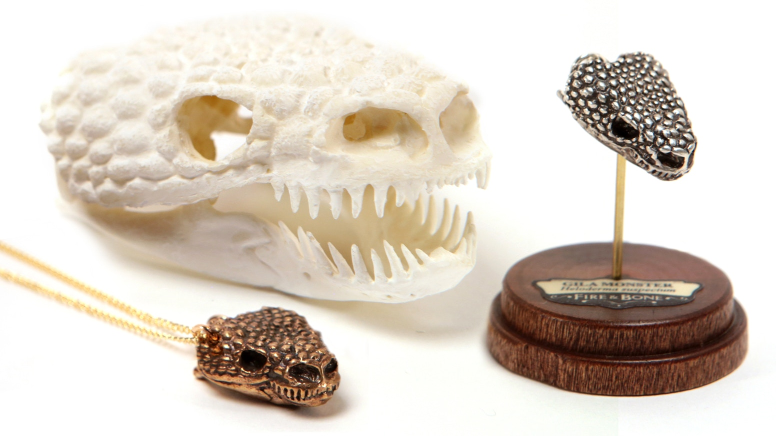 FIRE & BONE 5: Tiny, Digitally Captured, Metal Animal Skulls