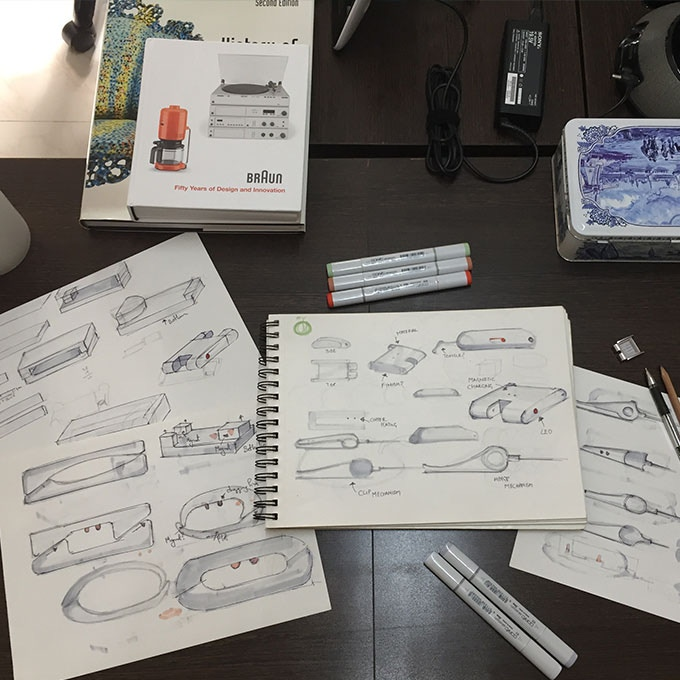 Early design sketches of the Smart Buckle