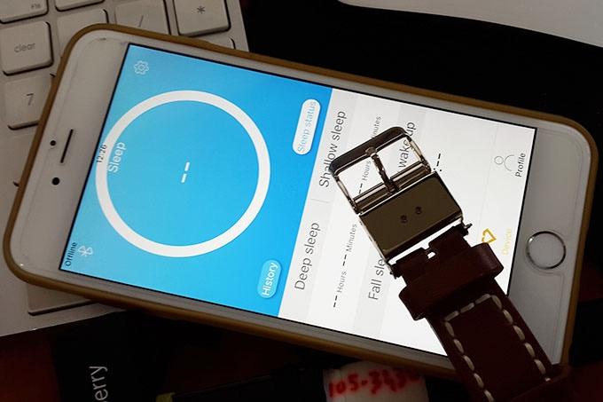 Smart Buckle App initial prototype.