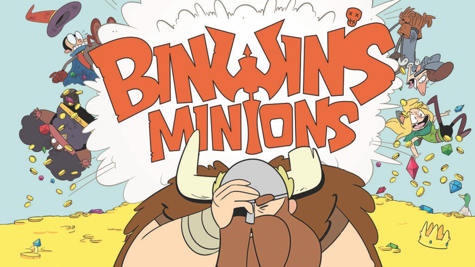 Collecting the comic adventures of Binwin Bronzebottom and his hopelessly-hapless band of Minions into their very first book!