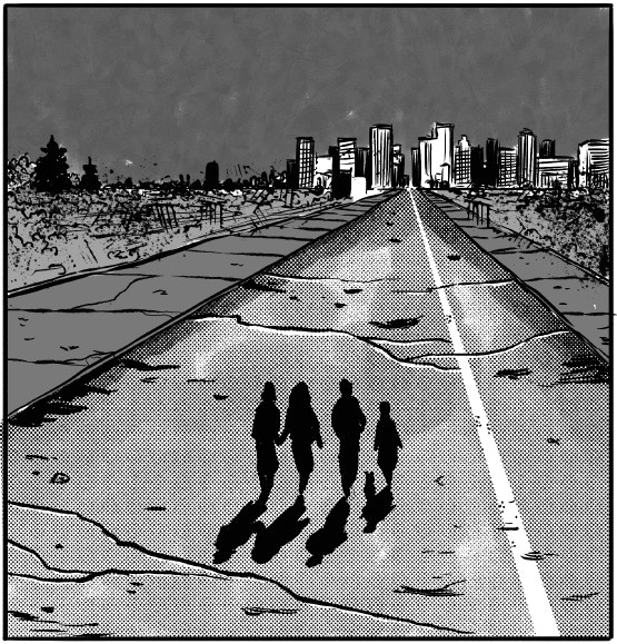 Our protagonists undertake a perilous quest throughout the ruins of Detroit.