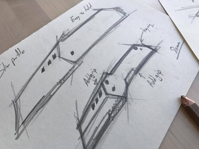 Early Sketches of the B-2 Nano Blade