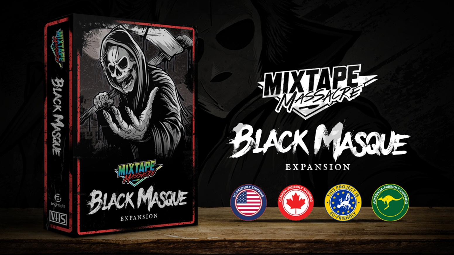 The fan-demanded expansion for Mixtape Massacre, adding new cards, characters, components, and gameplay to grow the game and experience.