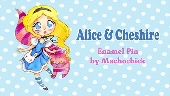 Alice & Cheshire Hard Enamel Pin