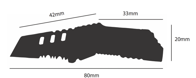 2D design drawing of the B-2 Nano Blade