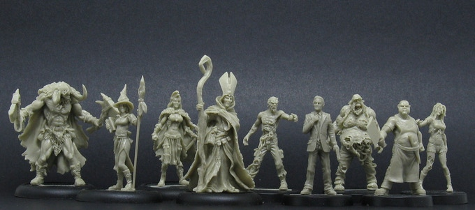 some figurines from Aenor Miniatures resin range
