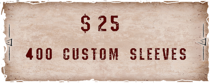 400 customs sleeves, all with the same back (same as the regular playing cards).