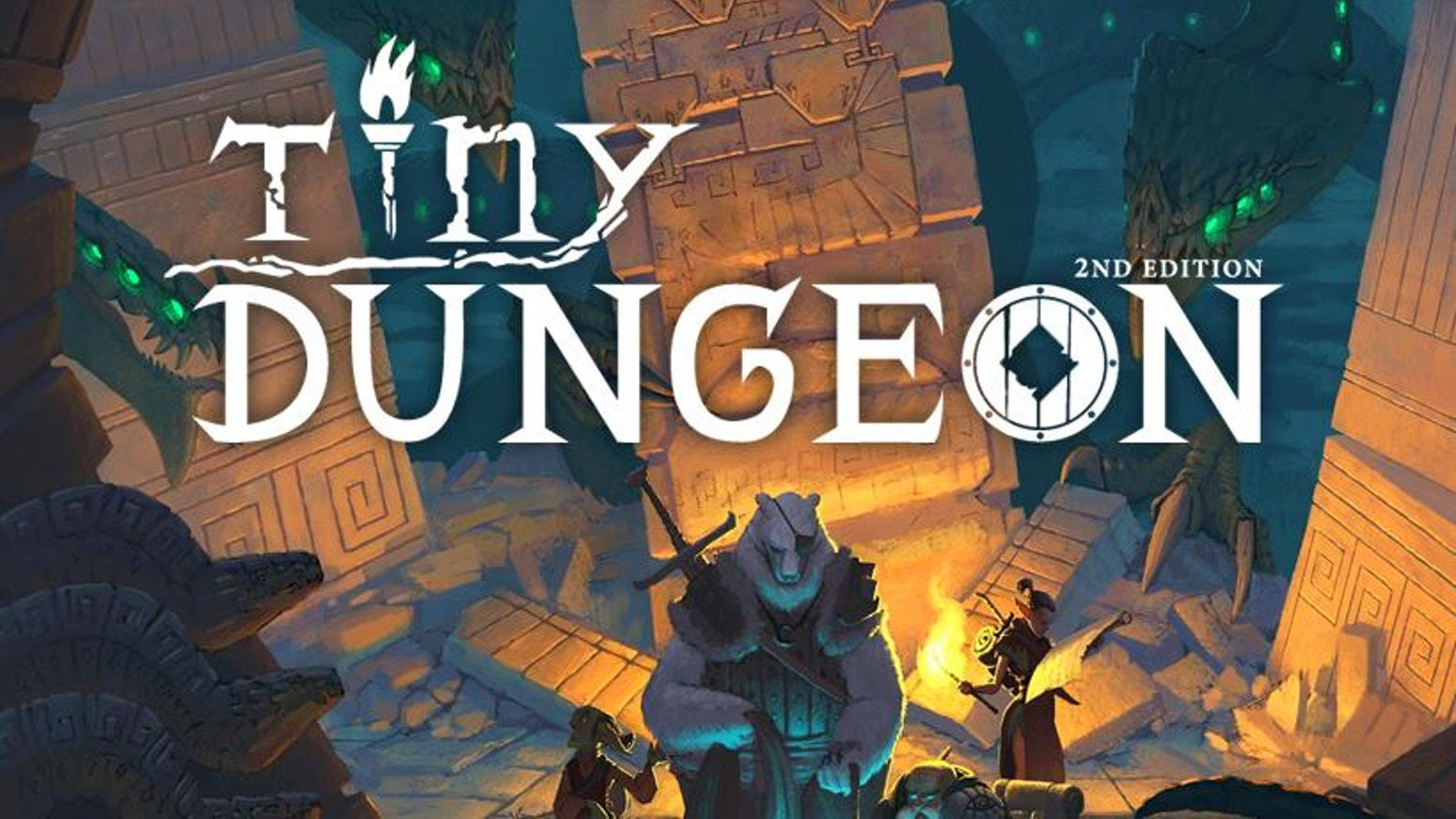 Return to the minimalist fantasy tabletop RPG Tiny Dungeon in this revised rules, now with micro-settings, additional content, & more!