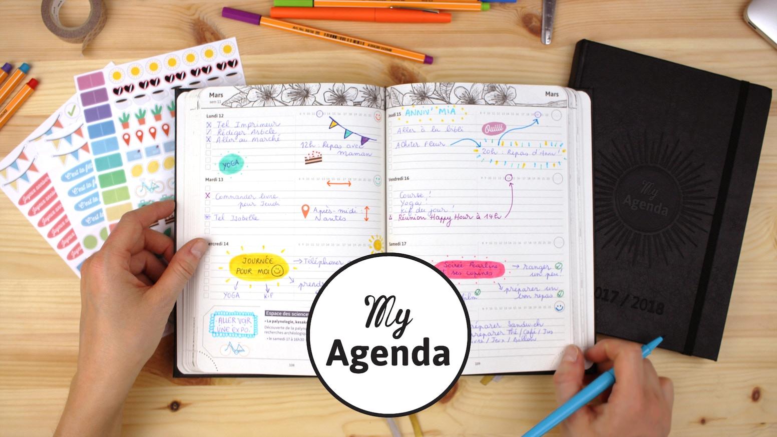 A la croisée des chemins entre bullet journal, agenda scolaire et cahier de développement personnel. 100% écologique + made in France !