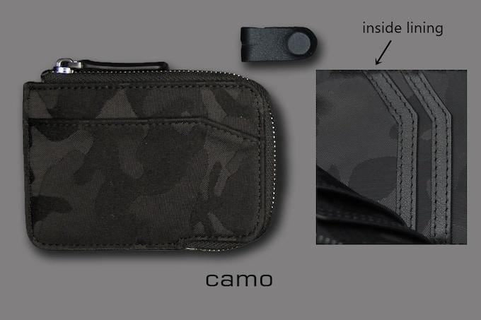 CAMO style X-Pocket RFID slim wallet