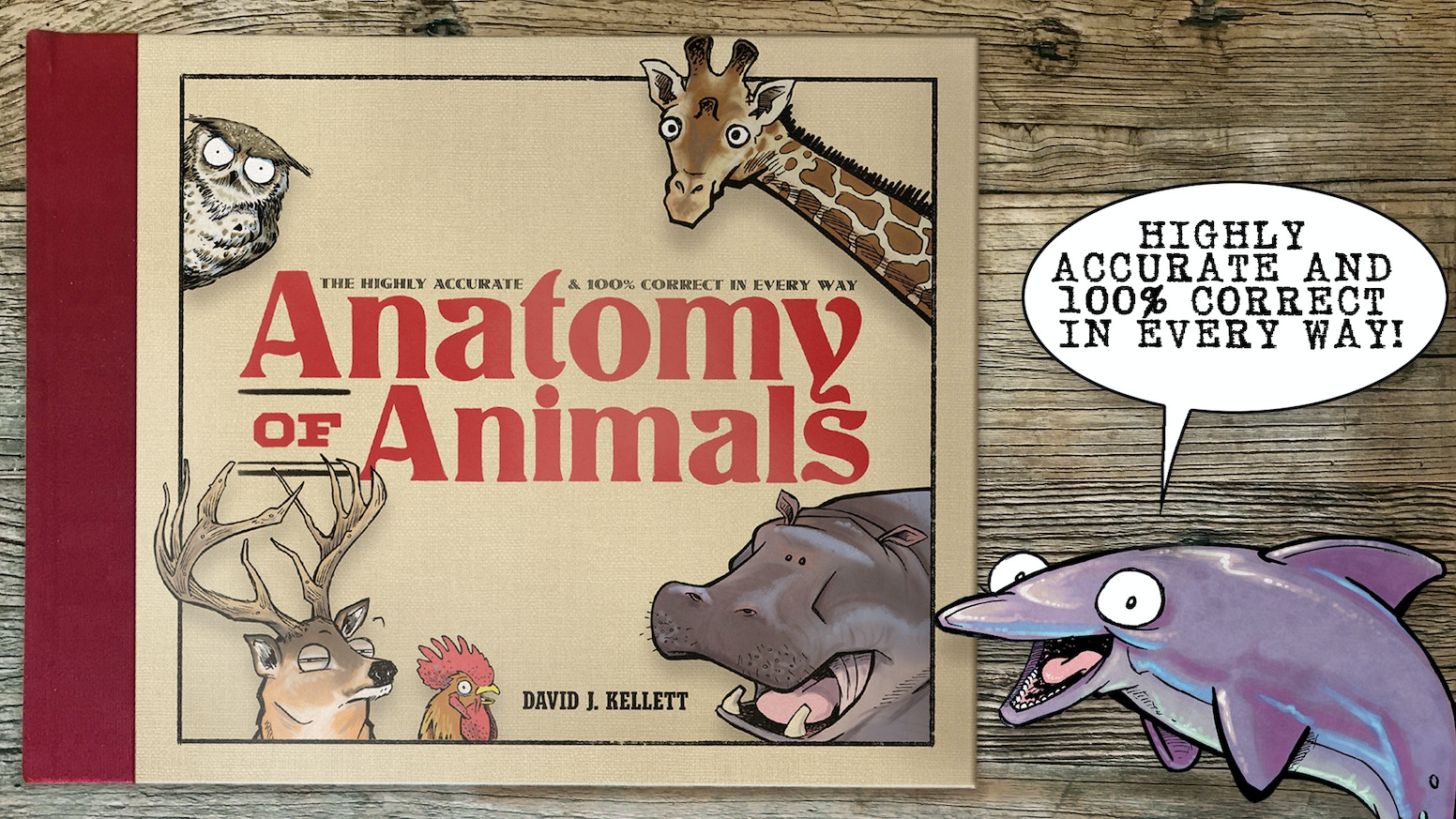 Classy hardcover book collection of comics...featuring everything you need to know about today's modern animals!