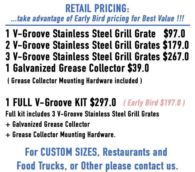 Your Grill May Change But Because We Made It From Top Quality Stainless Steel V Groove Grate Kit Will Carry Over For The Life Of All Grills