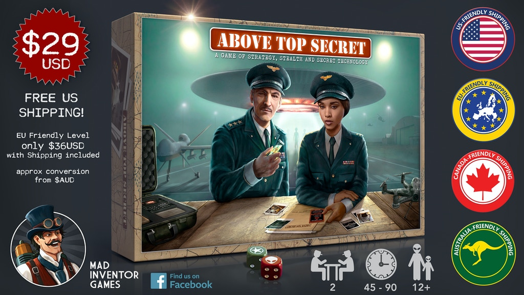 Project image for ABOVE TOP SECRET: A Game of Strategy and Secret Technology. (Canceled)
