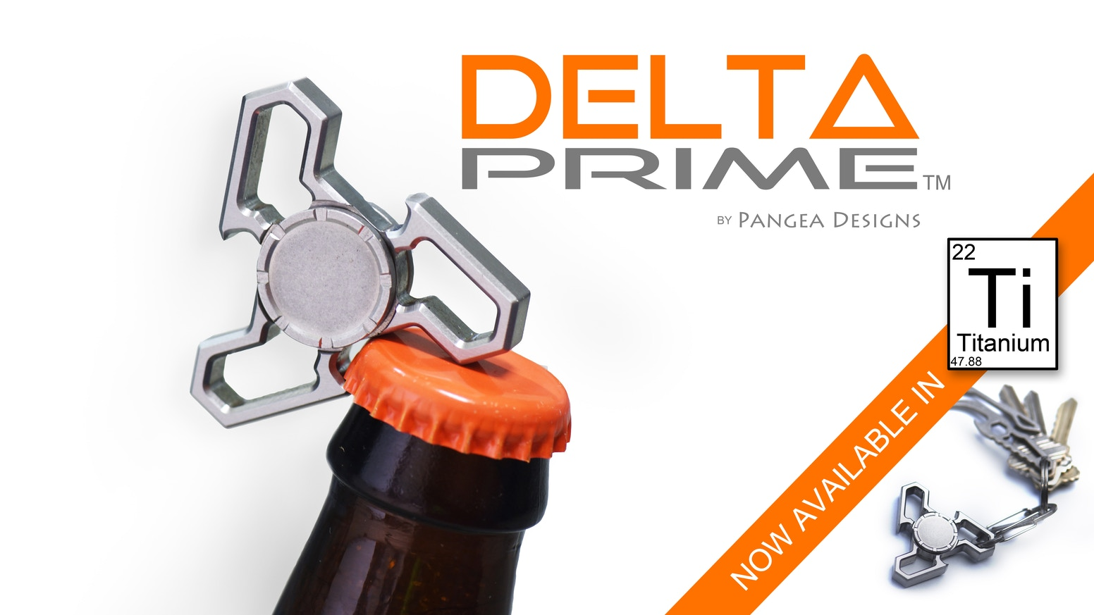 """A new spin on our Delta design. Bottle openers, 1/4"""" wrench, in a compact, keychain sized EDC fidget spinner."""