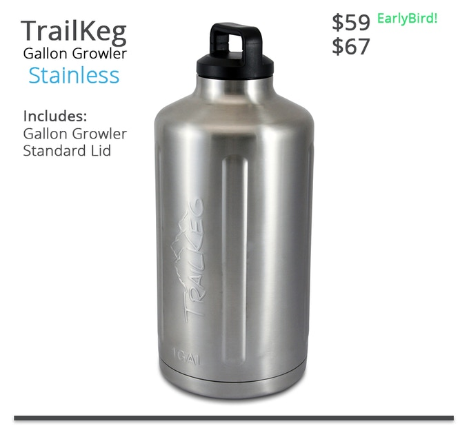 TrailKeg Gallon - Stainless
