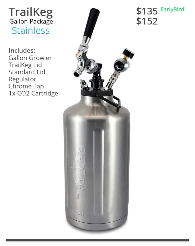 TrailKeg Gallon Package - Stainless