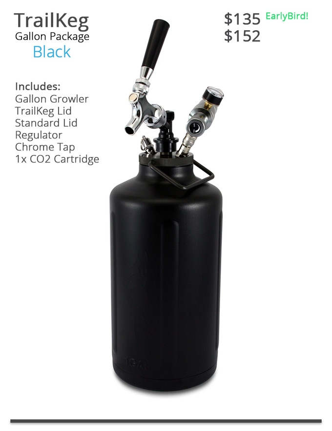 TrailKeg Gallon Package - Black