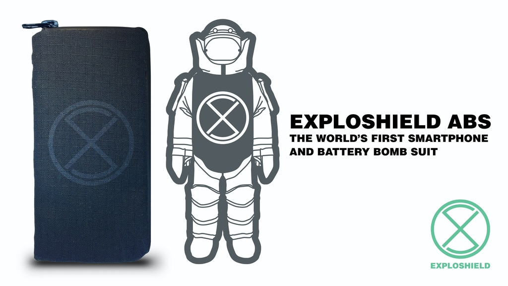 EXPLOSHIELD - The World's First Smartphone Battery Bomb Suit project video thumbnail