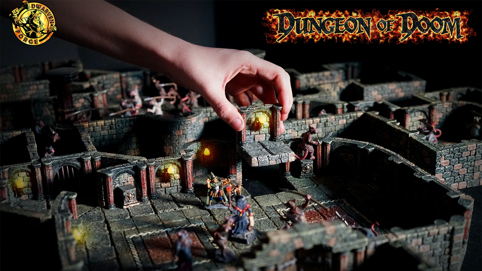 The ultimate fully modular terrain for Dungeons & Dragons, available fully hand painted.  Pledge manager ends soon!