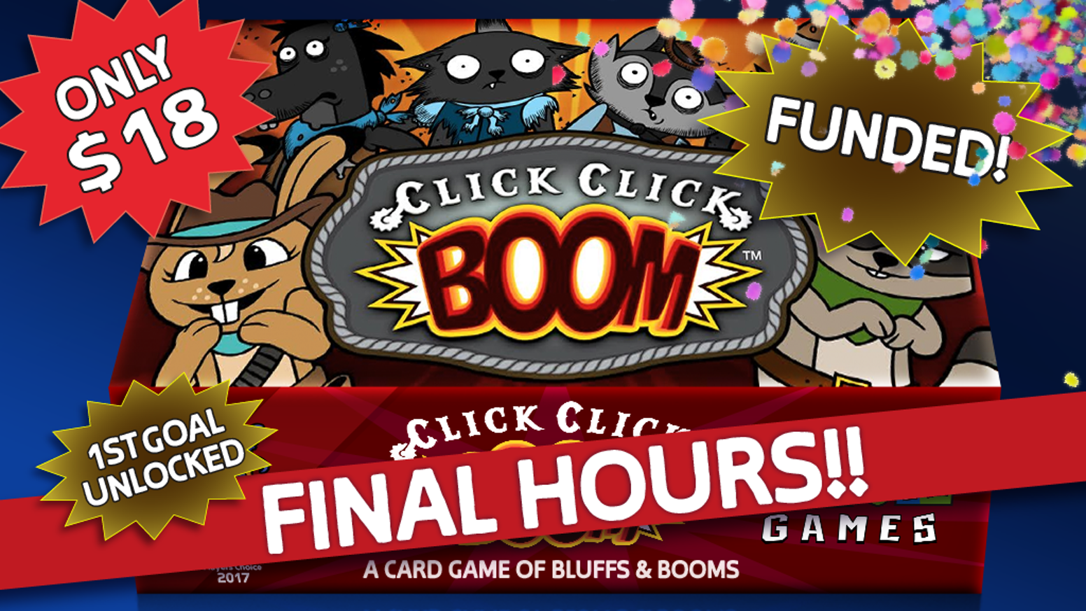 A tension-filled card game of bluffing, deception, and Russian roulette.  Compete in 3 Shootouts to claim Pots, Steal Coins, and WIN!