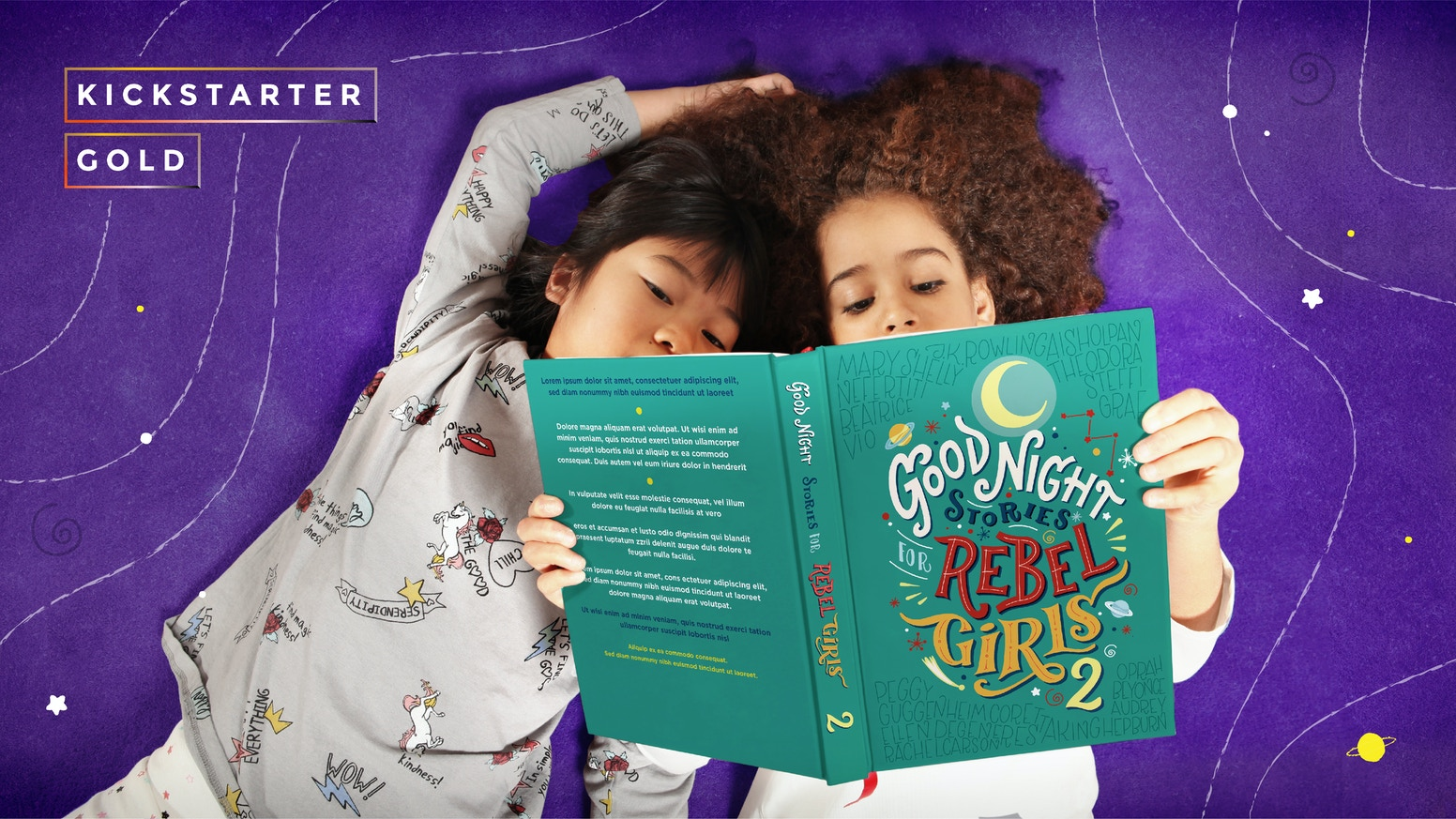A children's book and a podcast that reinvent fairy-tales, inspiring girls with the stories of 100 great women from all over the world.