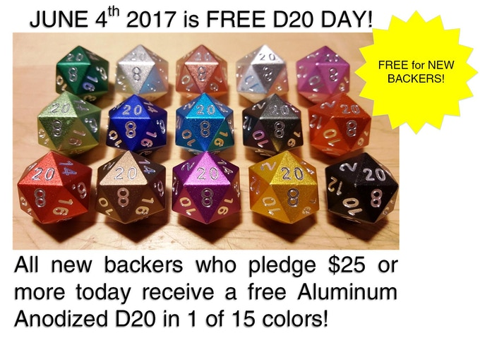FREE FOR NEW BACKERS! 1 FREE D20!