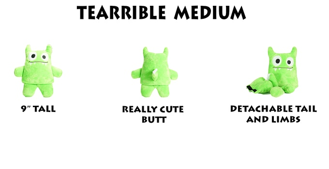 Tearribles Are Made Of Strong Plush And Lined With Durable Mesh For Added Support The Limbs Tail Attached To Toy Via Strength