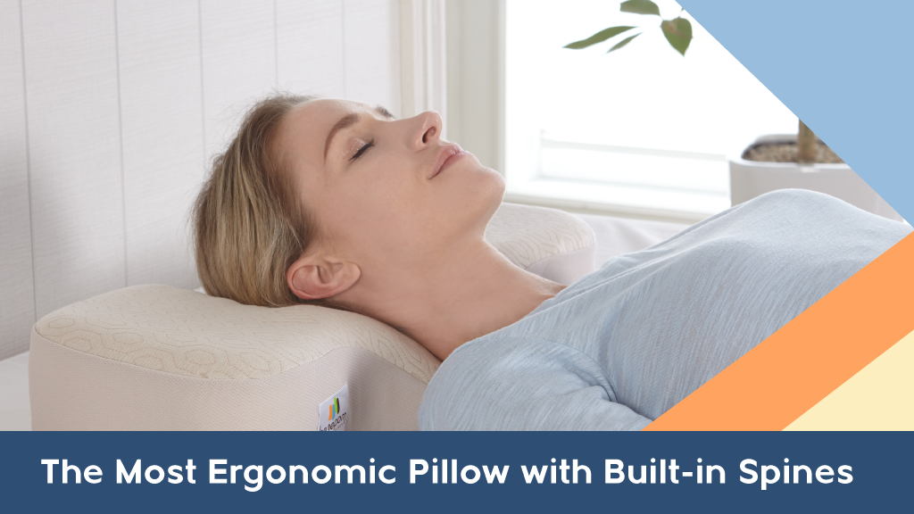 Rest, Recharge, & Repeat on the most Ergonomic Pillow ever