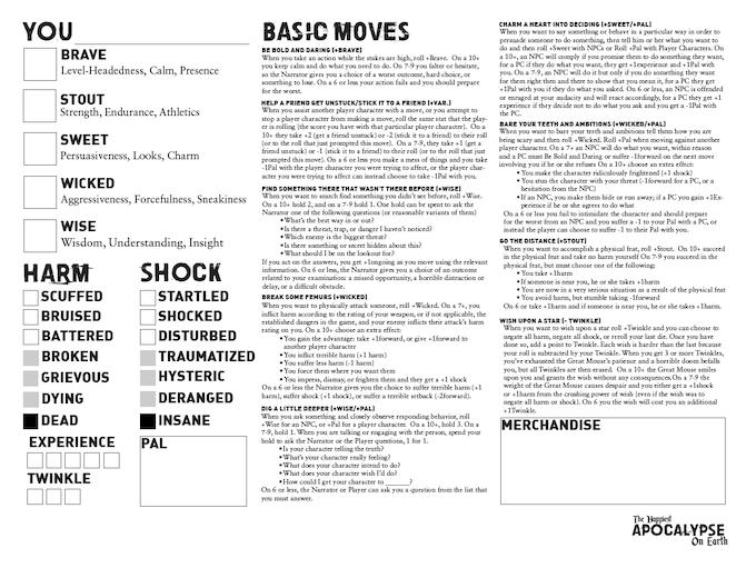 Download Sample Character Sheet PDF