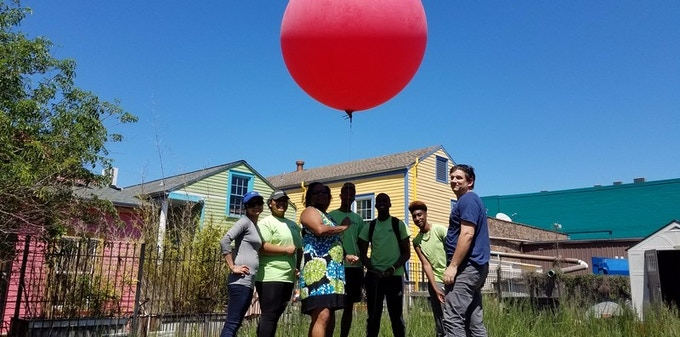 Balloon mapping at a stormwater workshop in New Orleans