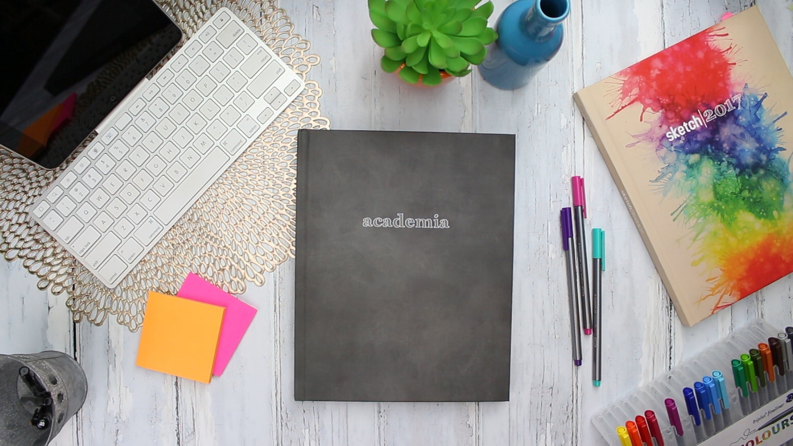 Academia is a customizable hardcover academic planner developed by a phd student for students