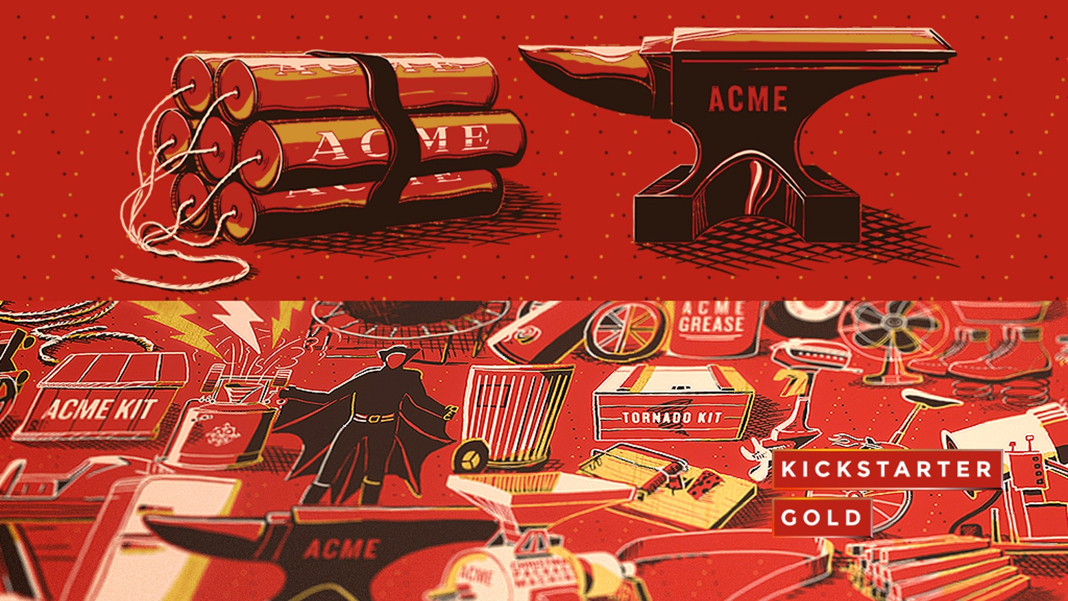 Posters of every ACME product, ever. 126 drawings of explosives, gadgets, rockets, and more!