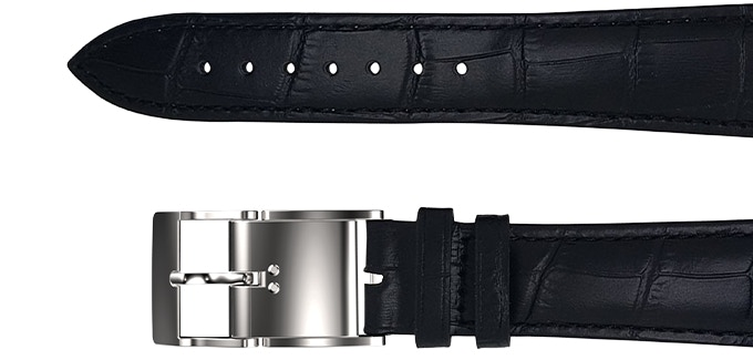 Smart Buckle with black Leather Strap